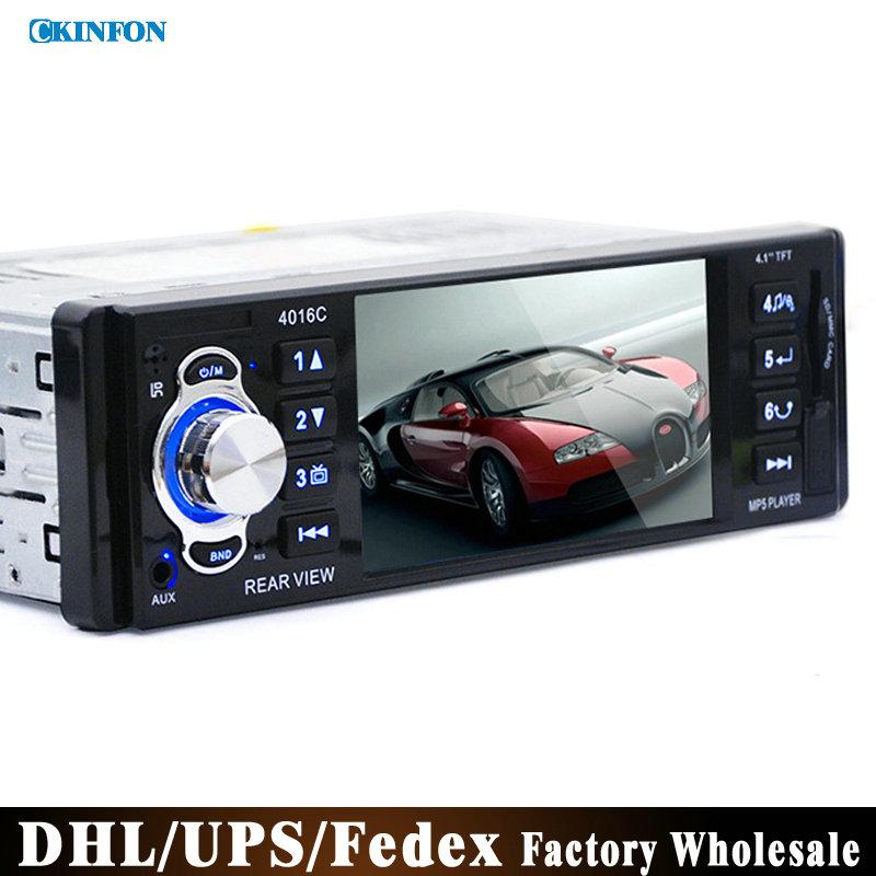 "DHL/Fedex 20pcs/lot 12V 4.1"" TFT HD Car Radio Audio Video MP5 DVD Player Rear View Camera with USB SD AUX Ports LCD Display(China (Mainland))"