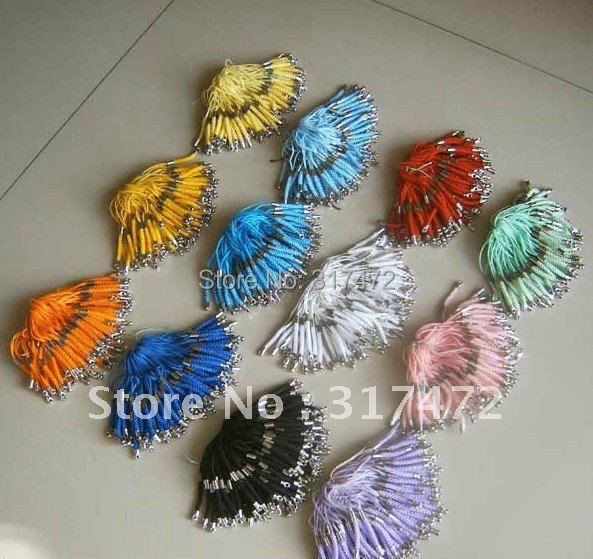 """$15 off per $150 order"" Good Quanlity 100pcs Moblie Phone Chain Findings (can chhose color)(China (Mainland))"