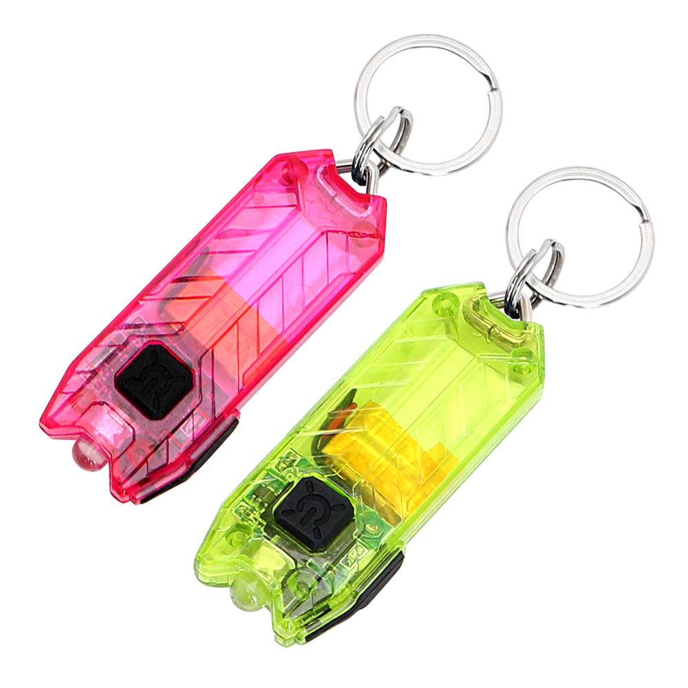 ITimo USB Rechargeable Mini LED Flashlight Keychain Portable Keyring Light Torch Key Chain 45LM 2 Modes Tube Emergency Lamp