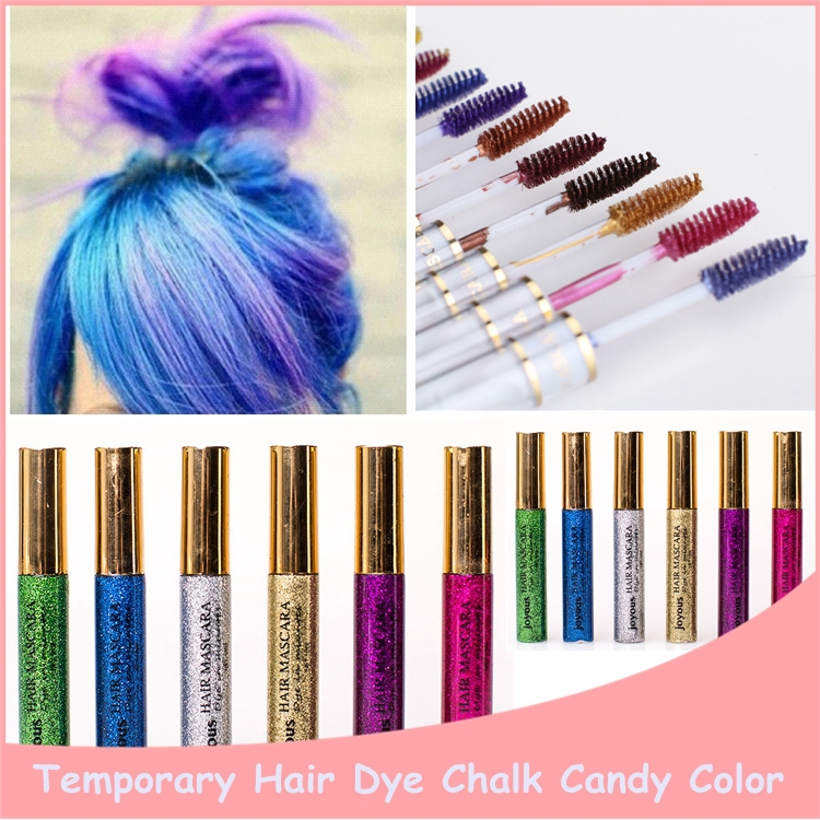 1PC New Arrivals Temporary Hair Colors Professional Bling Bling Non-Toxic Hair Mascara 6 Colors Available Free Shipping(China (Mainland))