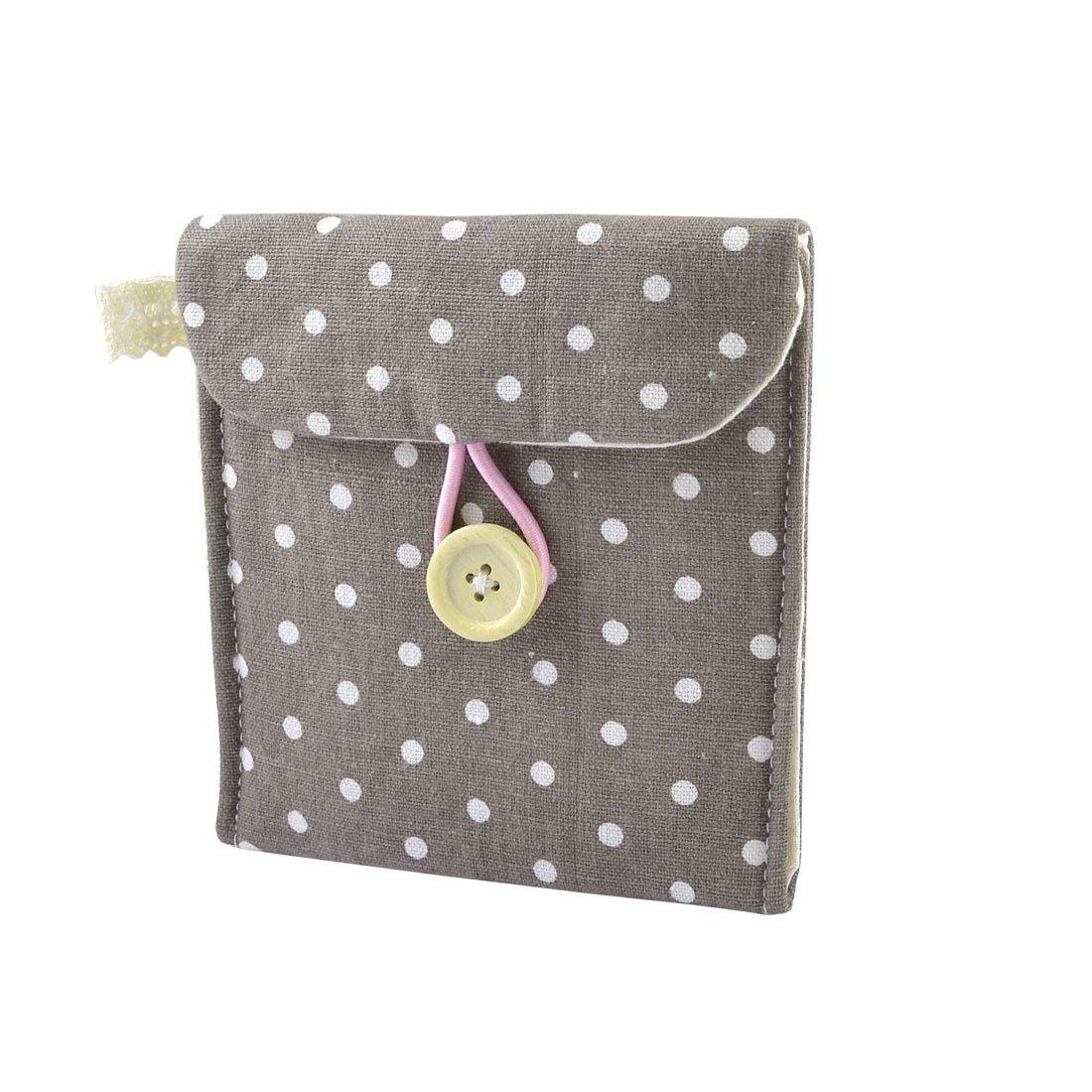 FSLH-New Girl Cotton Blends Polka Dots Sanitary Pad Holder Button Bag Case(China (Mainland))