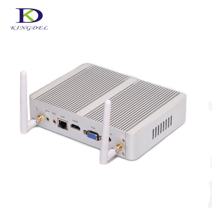 Business Mini Desktop PC Cheapest Windows 10 Intel Corei3 4005U Kodi HTPC 300M wifi HDMI VGA Small Size Metal Case Zero Noise(China (Mainland))