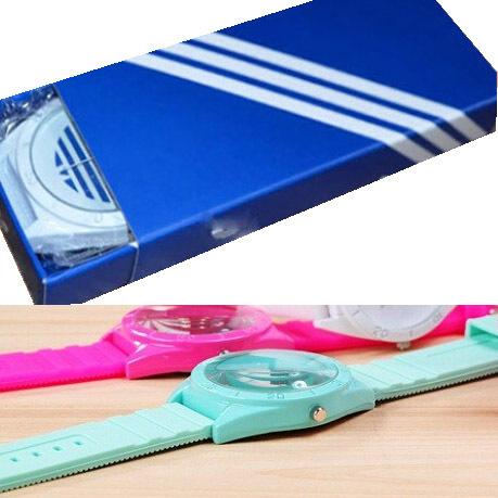 Fashion 3 design Three watch Leaves Slicone Leaf Women AD Sport Watches men wristwatches relogios femininos