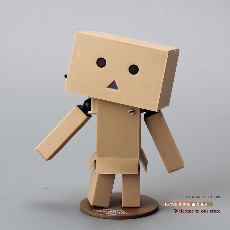 Free Shipping 8cm Lovely Danboard Mini PVC Action Figure Toy Danbo Doll with LED Light Classic Toys OTFG087(China (Mainland))