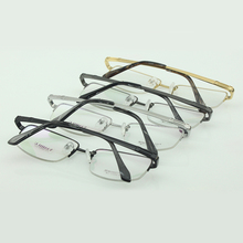 Titanium glasses light frame prescription eyeglasses male optical eyewear big face air nose pads 004