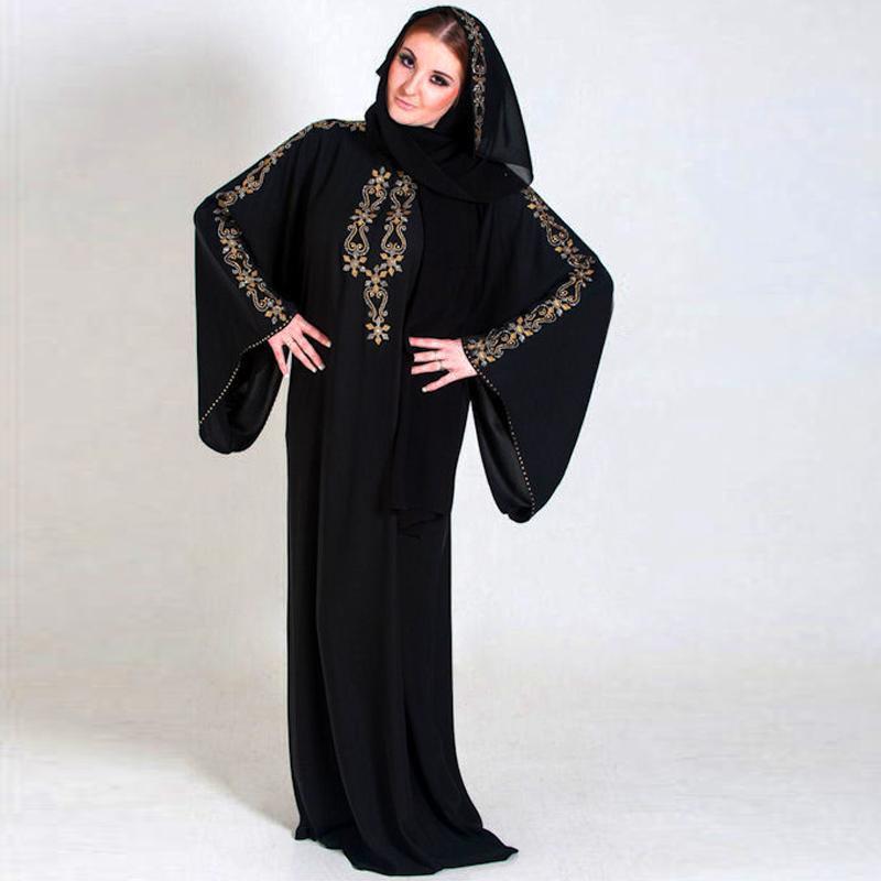 Buy 2015 Chiffon Evening Dresses Long Sleeves Middle East Dubai Muslim Kaftan