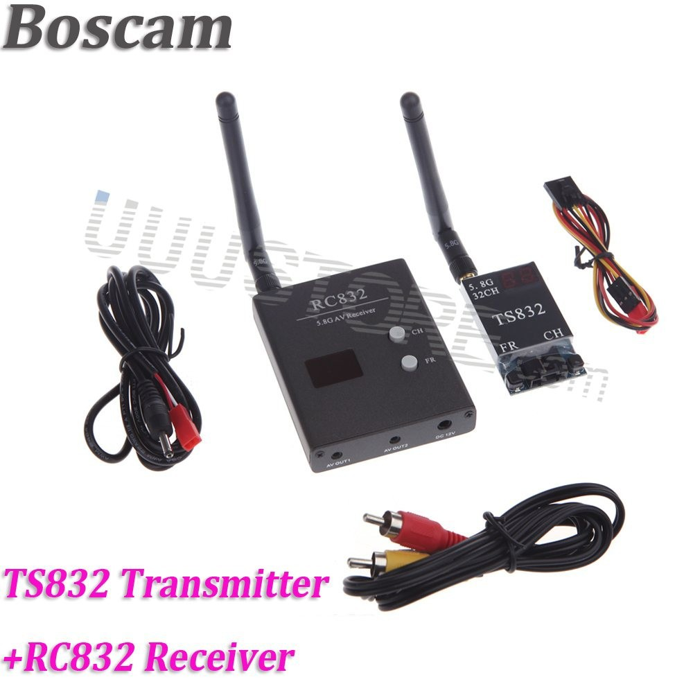 Boscam-5-8Ghz-5-8G-600mW-Wireless-Transmitter-TS832-Receiver-RC832-FPV-RC-Audio-Video-DJI
