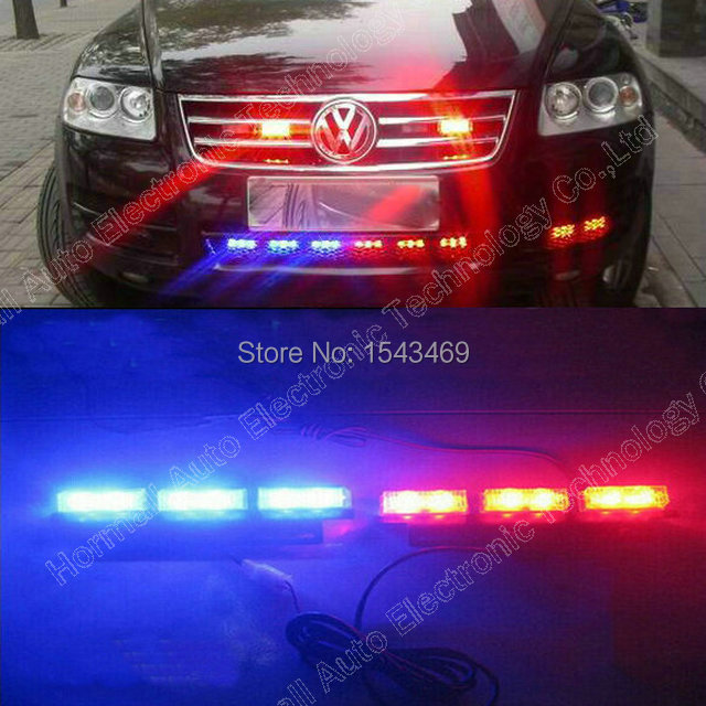 2 * 9 Led yellow blue red green white LED waterproof truck car grille light lamp strobe flash emergency waring Lights(China (Mainland))