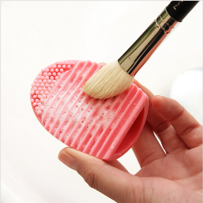 5pcs/lot Makeup Brush Cleaner Egg Brush Scourer Squeegee Silicone Cleaning Brush Cleanser Make up Brush Cleaner Clean tools(China (Mainland))