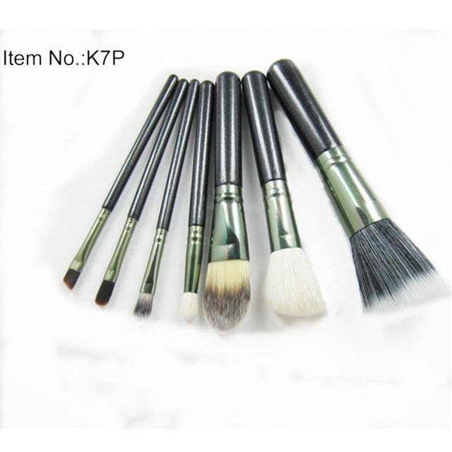 7pcs/Set Professional Cosmetic Makeup Brushes Eyeshadow Foundation Powder Eyebrow Eyeliner Make Up Brush Set Tools Kit GI5026