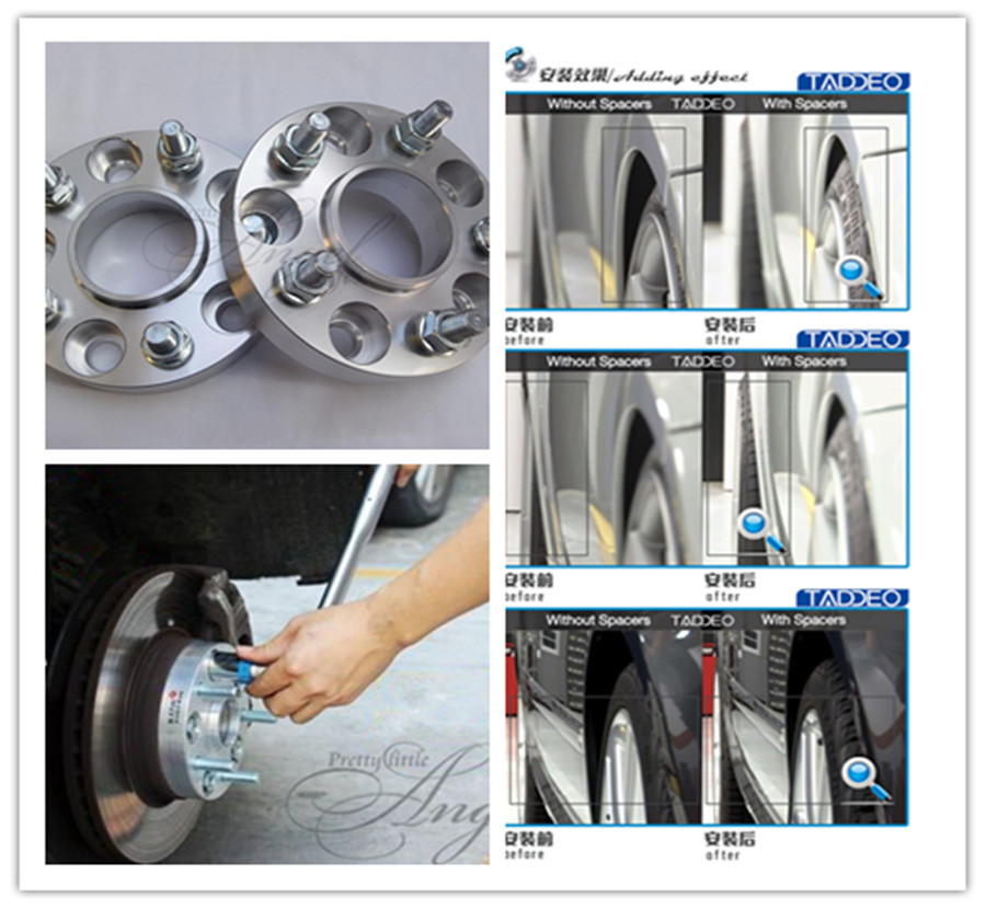 A pair (2), 20 mm,5 x114.3 hole 66.1 mm, wheel adapter, spacers, for nissan series,370Z,Quest,Qashqai,Teana,Skyline,GT-R,X-Trail(China (Mainland))