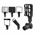 5 in 1 Speedlight Falsh set 3 x Foldable Speedlight Reflector Snoot Flash Softbox Diffuser Honeycomb