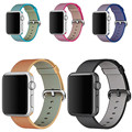 hot Rainbow colors Woven Nylon Watch Band Fabric Wrist Strap For Apple Watch 38 42mm Women