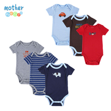 6 Pieces/Lot Mother Nest Newborn Baby Bodysuit  Baby Boy Layette Summer Body Baby Next New Born Baby Clothes Babies(China (Mainland))