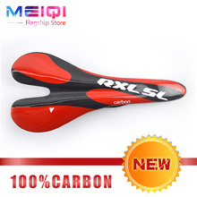 Buy New RXL SL Full Carbon Fiber Bicycle Saddle Super Lightweight Mountain Bike Road Bike Seat Saddle Cycling Cushion Hollow Saddle for $18.24 in AliExpress store