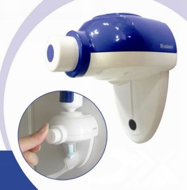 Convenient Hands Free One Touch Household Automatic Toothpaste Dispenser Bathroom Accessery Free Shipping(China (Mainland))
