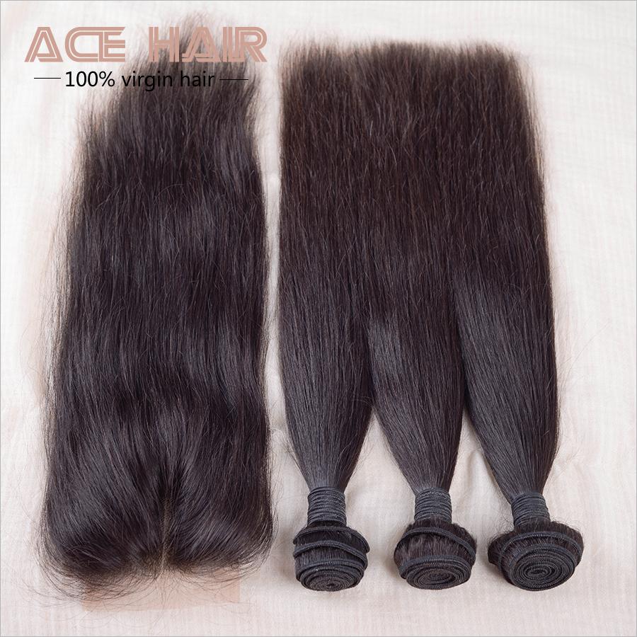 7a Virgin Hair Lace Closure Malaysian Virgin Hair With Closure 4pcs,Malaysian Virgin Hair Straight Weave Human Hair Closure