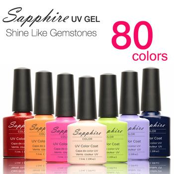 l Hot Sale Sapphire Soak Off UV LED Nail UV Gel Polish 80 Colors Nail Tools Nail Ge Nail Gel Polish