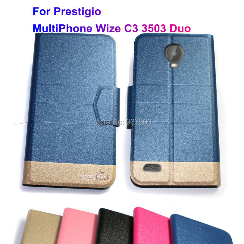 For Prestigio MultiPhone Wize C3 3503 Duo/ New Ultra Thin Hot Luxury Fashion PU Leather Protection Case Cover / You choose color(China (Mainland))