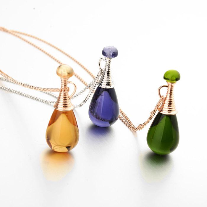 lovely semi precious perfume glass bottle style