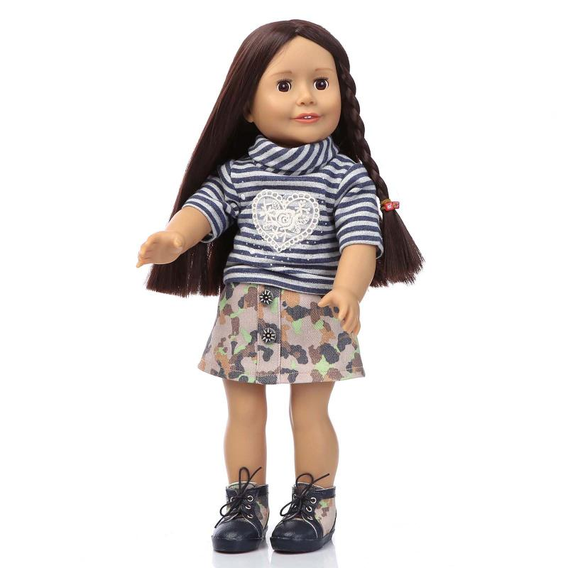 45cm American Girl Doll Toy For Kid Baby Handmade Lifelike Baby Doll Toddler Girls Paly House/Bedtime/Sleep Toy Dolls Collection(China (Mainland))