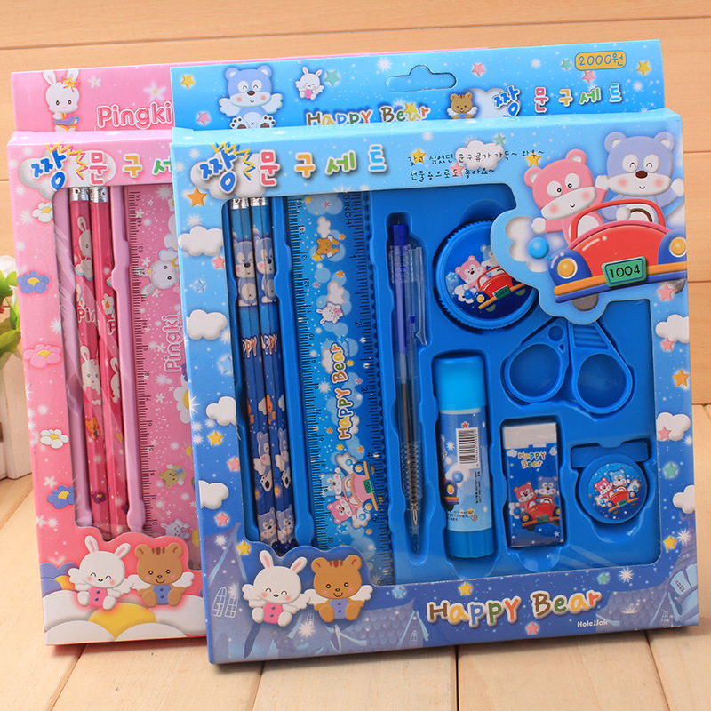 Stationery set students studying products Childrens day gift creative stationery 9 pieces per set Pencil ballpoint pen set<br><br>Aliexpress