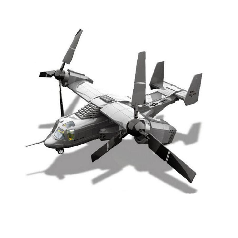593pcs 1 set Building Blocks New Arrival V-22 Osprey Tiltrotor Model Kits Compatible With lego toy(China (Mainland))