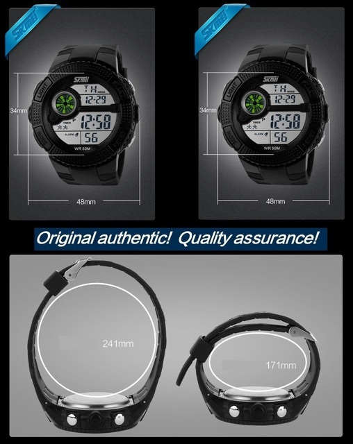 Multifunction Digital Military Watch