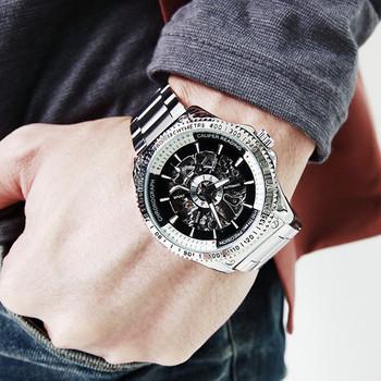quality fashion stylish Personalized cutout mechanical watch