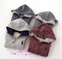 Children cotton zipper Hoodies 2015 spring and autumn Korean children cotton zipper Hoodies hooded sweater hoodie sports(China (Mainland))