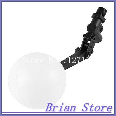 Tank Pool Liquid Level Plastic Floating Ball Valve 1/2 PT Threaded Black White<br><br>Aliexpress