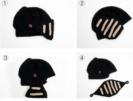 2015 winter beanie skull chunky baggy warm skullies,touca gorro,Bonnet cheap Female Novelty New Roman Knight Helmet Caps(China (Mainland))