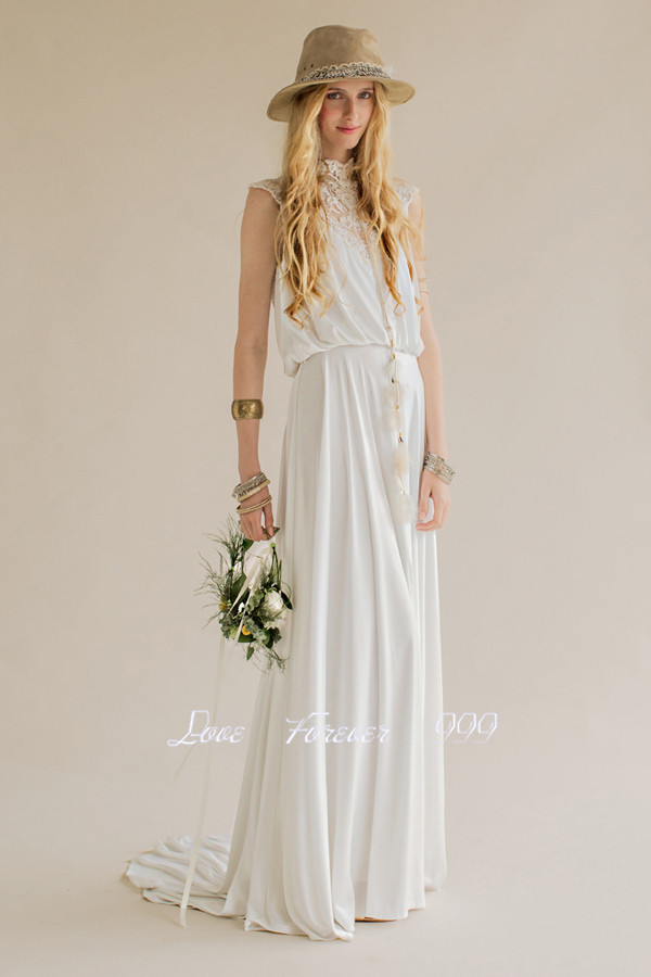 Vestido noiva hippie country western wedding dress 2015 for Country western wedding dresses