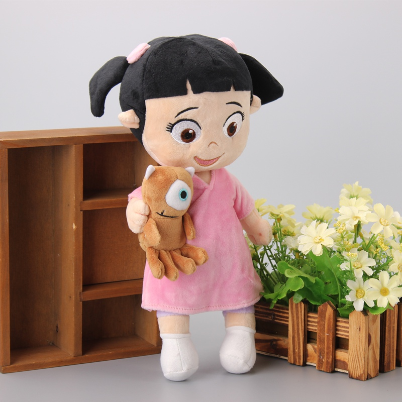 Monsters University Inc Little Girl Babblin Boo Holding Teddy Bear Plush Toys Stuffed Doll Kids Birthday Gift(China (Mainland))