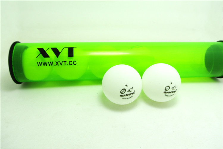 ITTF SANWEI 1 Star 40+ New Material Seamless PP Ball Table Tennis ball / ping pong ball with XVT Rolling Stick 6pcs/roll(China (Mainland))