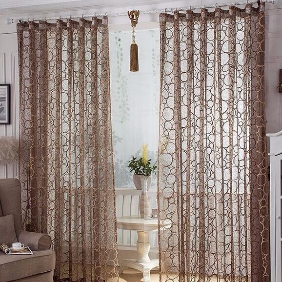 European style window screening bird 39 s nest design sheer for Style de rideaux pour salon