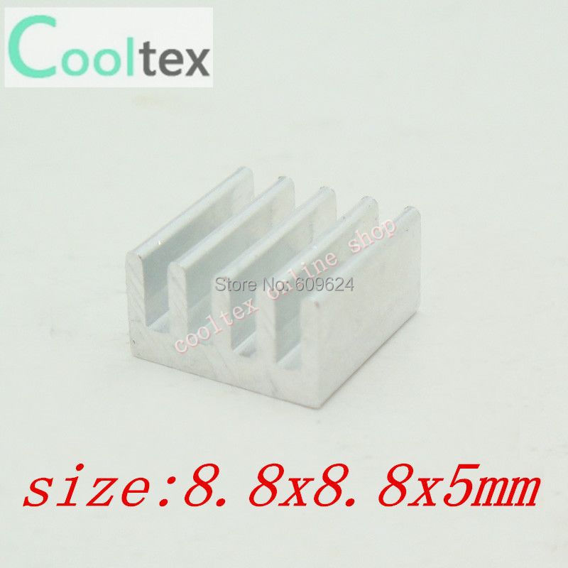 Free Shipping 1000pcs  8.8x8.8x5mm Heatsink, Aluminum Heat-Sink, Heat Sink for Electronics,Computer Transistor