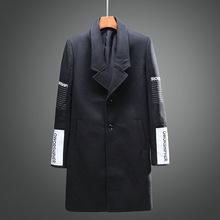 2016 autumn winter long trench coat men casual men's windbreaker fashion jacket men trench coat men outwear Q215(China (Mainland))