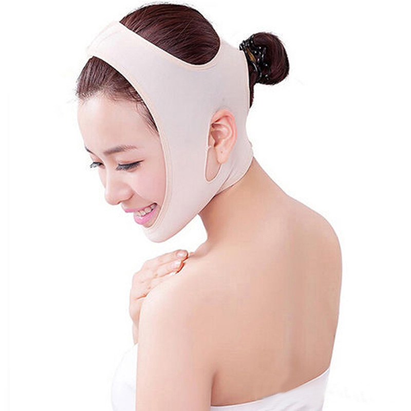 1PCS Beauty Hot Products Wrinkle V Face Chin Cheek Lift Up Slimming Products Slim Mask Ultra-thin Belt Strap Band for Face Care(China (Mainland))