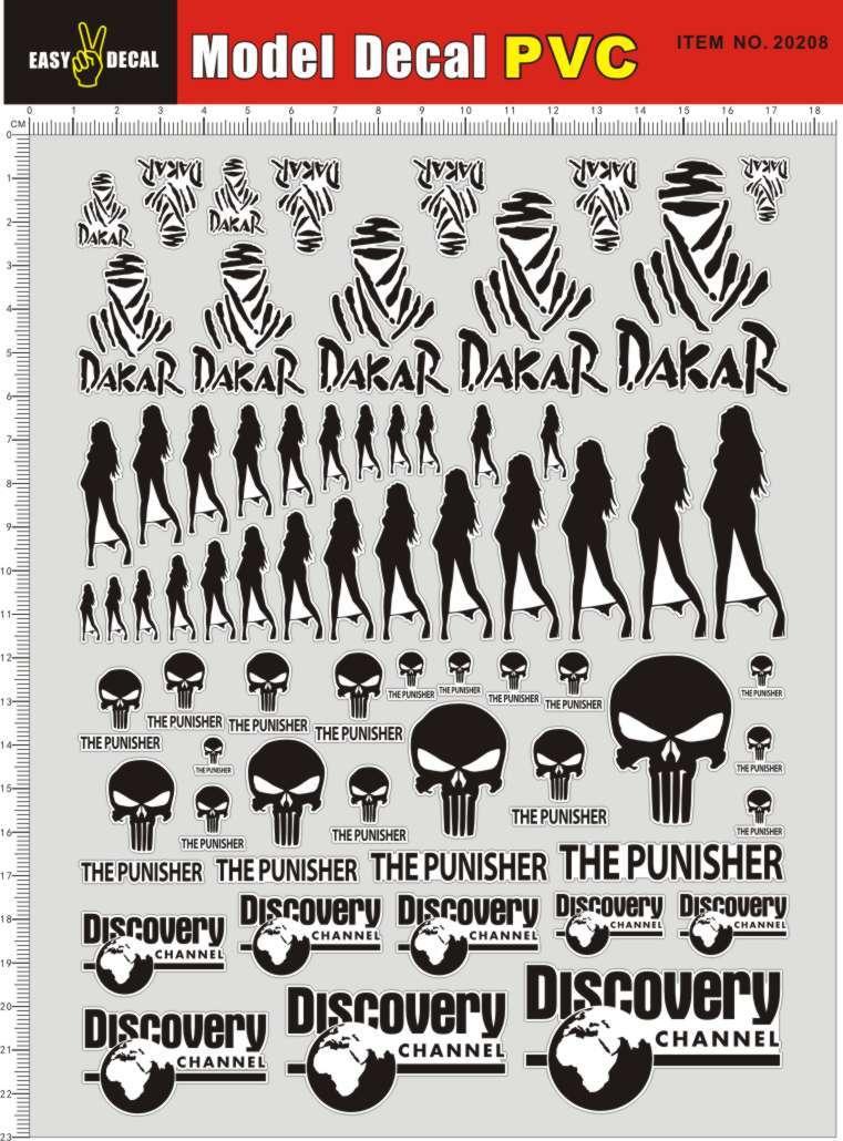 20208-2P7 Dakar Punisher Punisher DISCOVERY Global exploring beauty sticker (model toys, stickers)(China (Mainland))