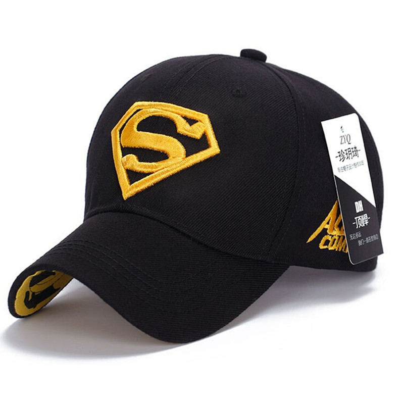 2016 Vogue Sports Diamond superman Baseball Caps Outdoor golf Vintage Embroidery Snapback Hat Hip Hop Casual hats wholesale 25(China (Mainland))