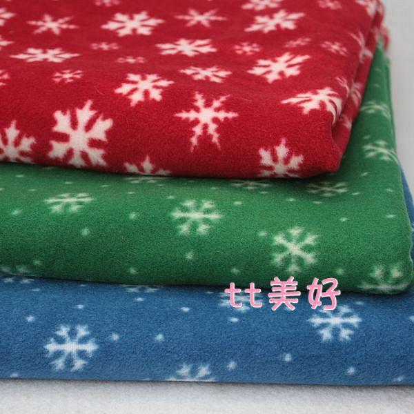 50cm x50cm Christmas decoration printing snow cloth polar fleece fabric handmade DIY green red blue doll cloth hat background(China (Mainland))