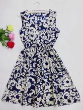 20 style 2015 fashion new women shirts Cat footprints pattern Show thin Shirt dress casual dresses with Belt(China (Mainland))