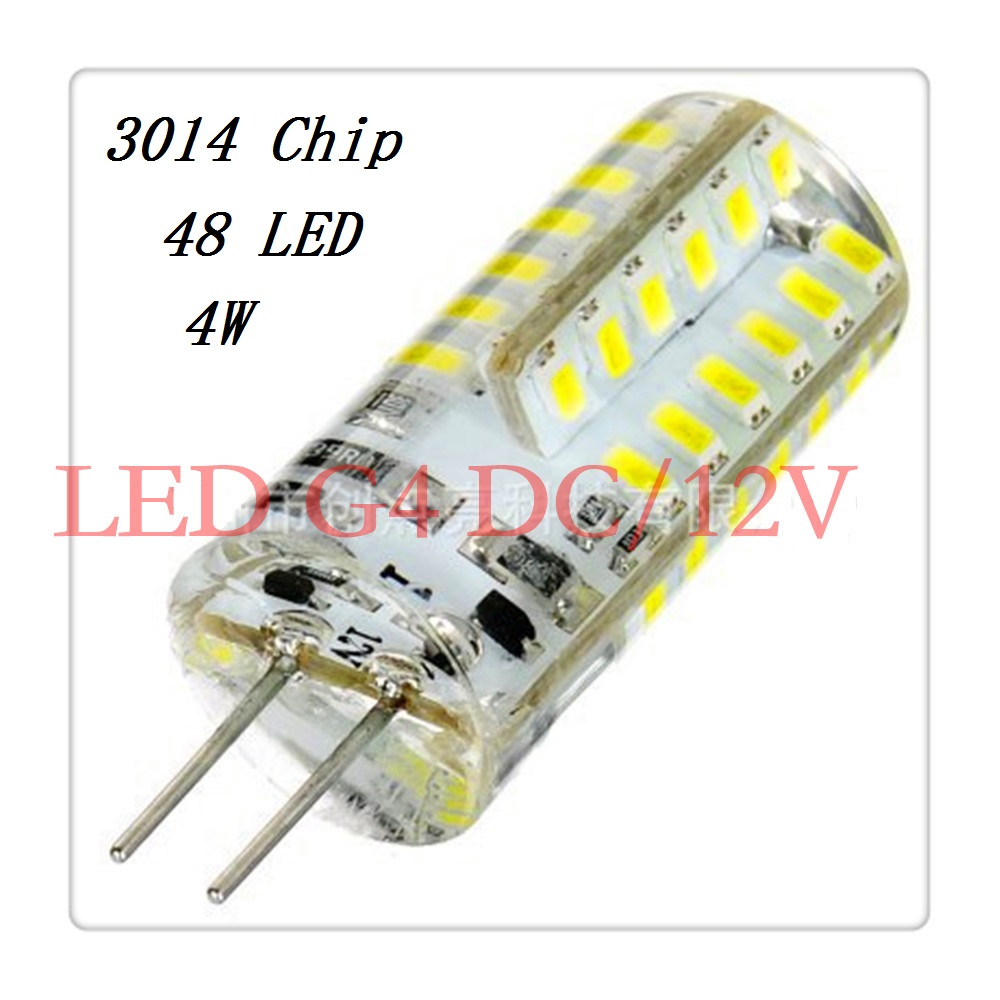 1pcs LED G4 Lamp Bulb 3014 SMD DC 12V 2W 4W LED Lighting Lights replace Halogen G4 for Spotlight Chandelier(China (Mainland))
