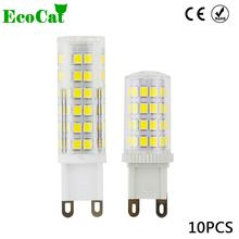 Buy ECO CAT 10pcs/lot LED G9 lamp LED candle light AC 220v 240v 3W 5W 7W Crystal Lighting Ceramic Crystal Spotlight Chandelier for $10.36 in AliExpress store