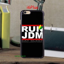 Black RUN JDM Protector Plastic Hard Stylish Mobile Phone Cases Cover for iPhone 5c 5s 5 4s 4 i6 i6 plus accessories Protective