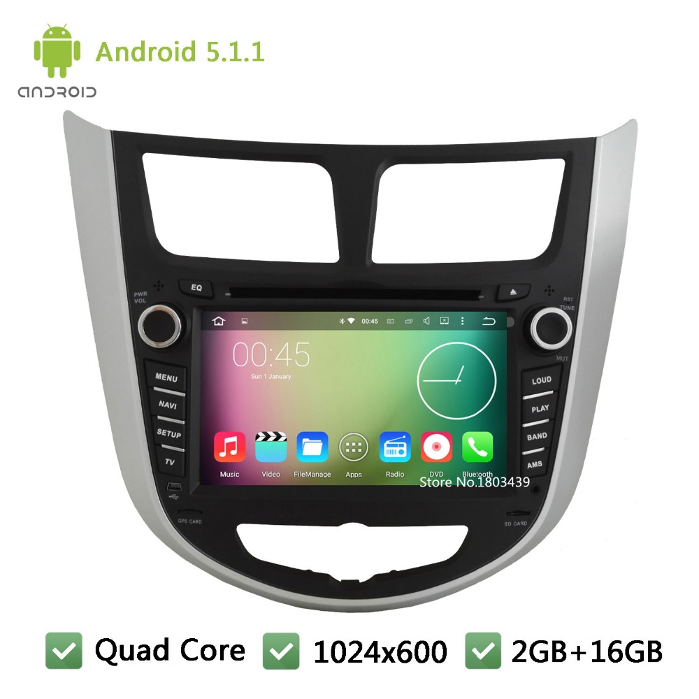 Quad Core Android 5 1 1 2Din 7 HD 1024 600 WIFI font b Car b