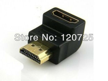 Free shipping 5pcs HDMI male to Female Gender Changer connector Adapter Coupler right angel