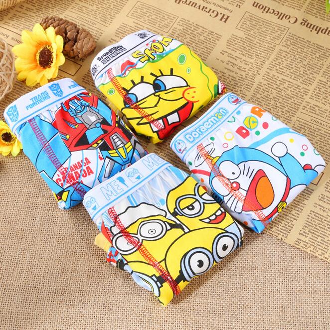 6 pcs/lot 2-9 Years Boy's Underwears/Children Baby Underwear/Kid's Boxer Shorts/Boy Pants/Cotton/Cartoon Doraemon/Free Shipping(China (Mainland))