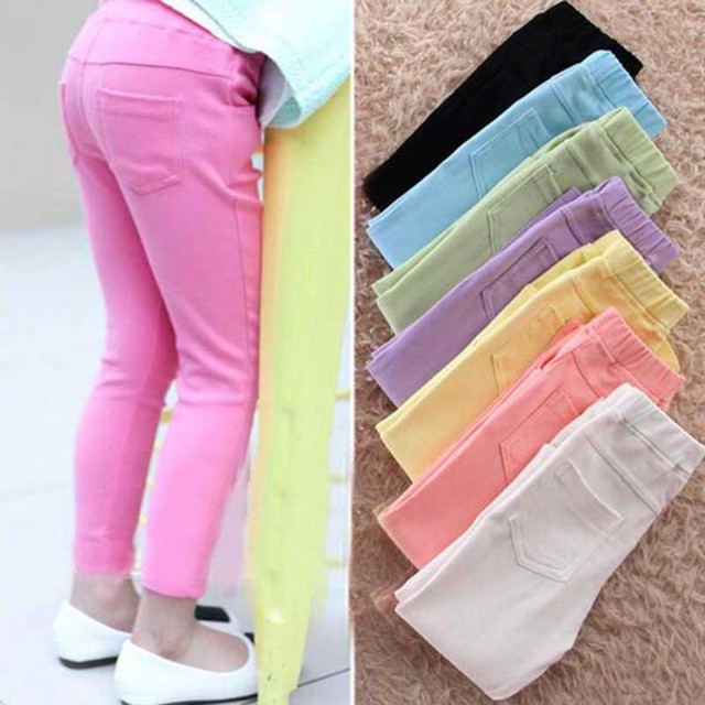 Девушки леггинсы весной новинка досуг новорожденных девочек леггинсы детские 24 м - 7 т вата-цветные брюки для девочек